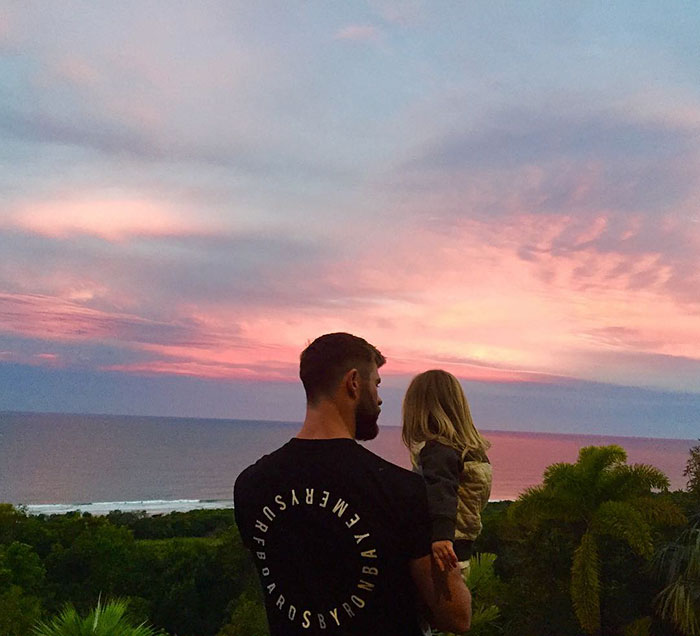 """A Picture Says A Thousand Words, My Kid Only Says About 4 But He's Still Awesome And Way Cooler Than This Sunset"""