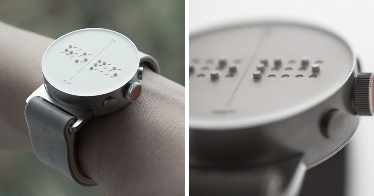 World's First Braille Smartwatch Lets Blind People Feel ...