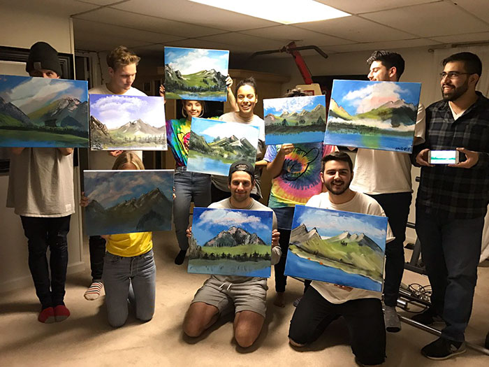bob-ross-birthday-party-painting-landscape-4