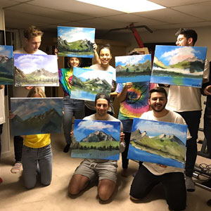 People Are Obsessed With This 22-Year-Old Guy Who Had A Bob Ross Birthday Party