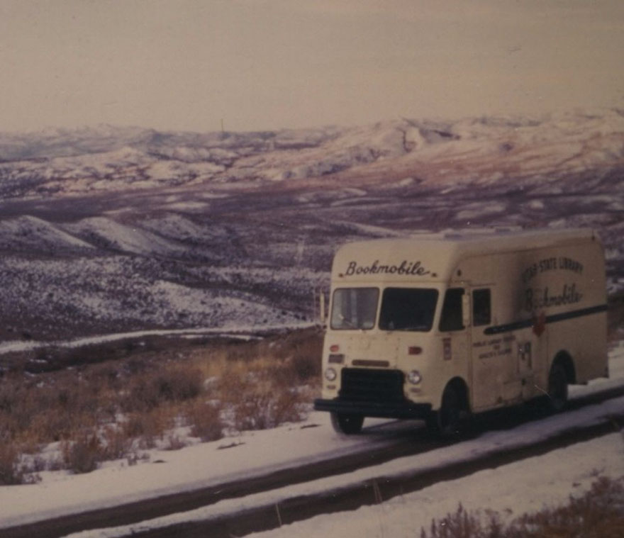 Utah State Library Bookmobile On The Road, 1970