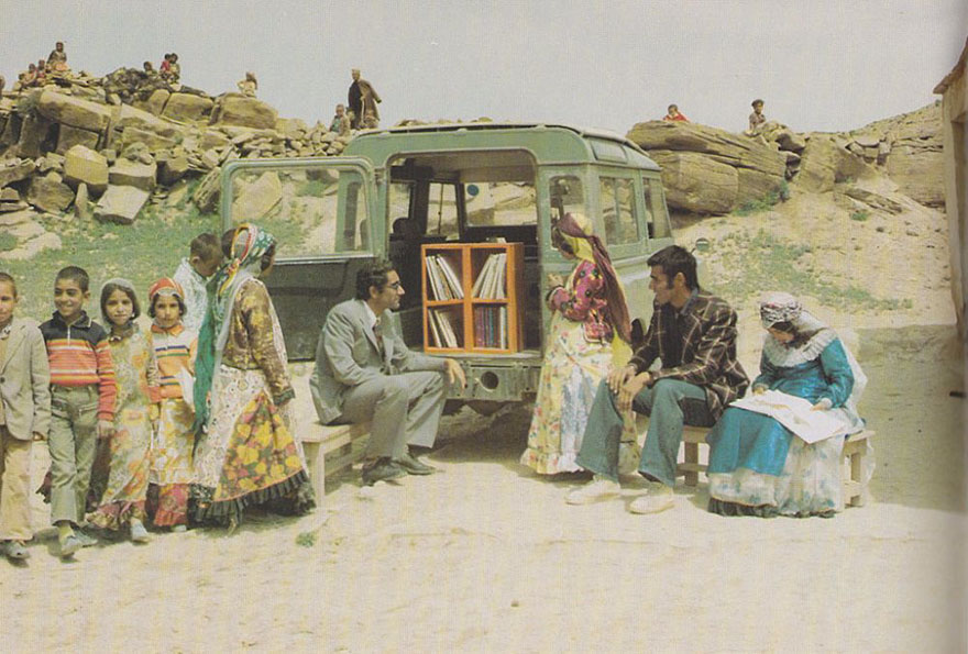 A Mobile Library In Kurdistan, Iran, 1970