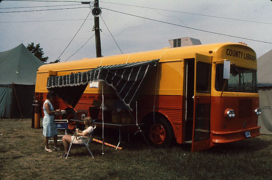 Bookmobile At Anne Arundel County Fair, 1973