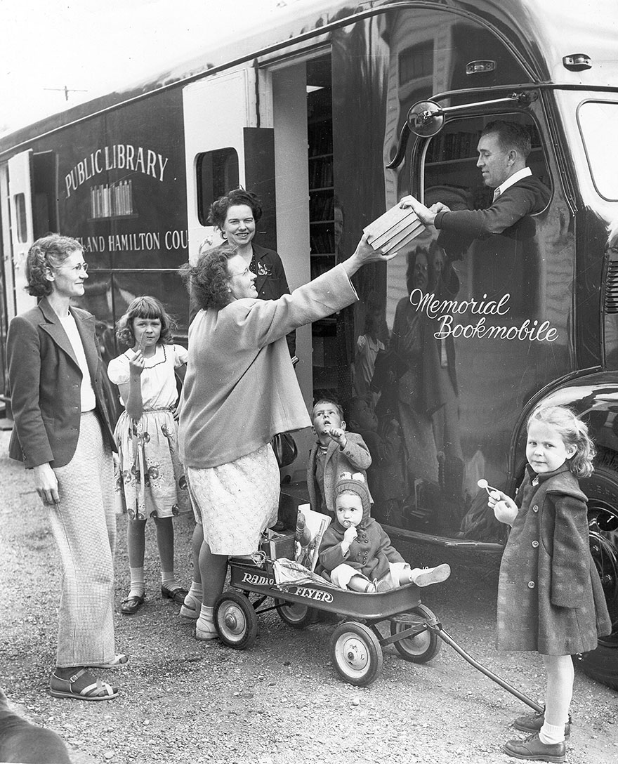 One Of The Library Bookmobiles, C. 1948.