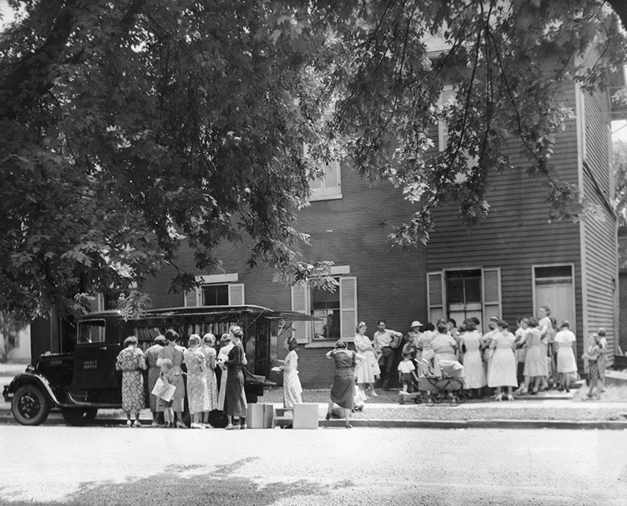 The Library's Bookmobile In Sharonville, Circa 1938