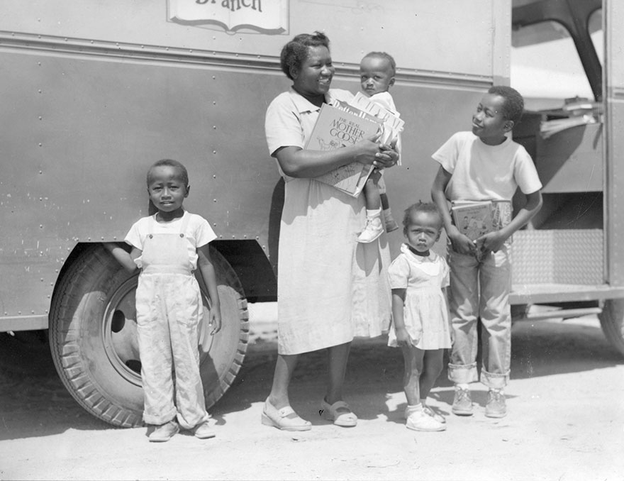 Mrs. Josie Sanders, Richard Sanders, Jerome Sanders And Two Younger Children. C1950s