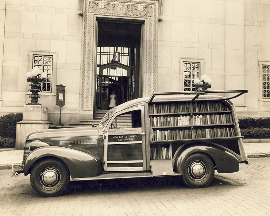 A Very Fine Bookmobile Owned By The New Castle County Free Library