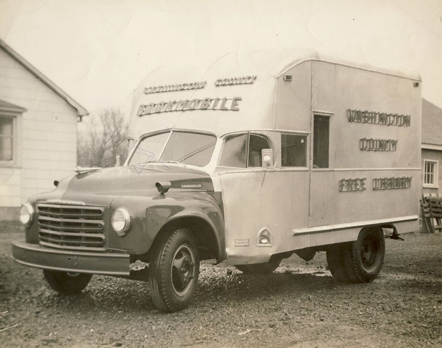 A Photo Of The Bookmobile From Washington County (md) Free Library