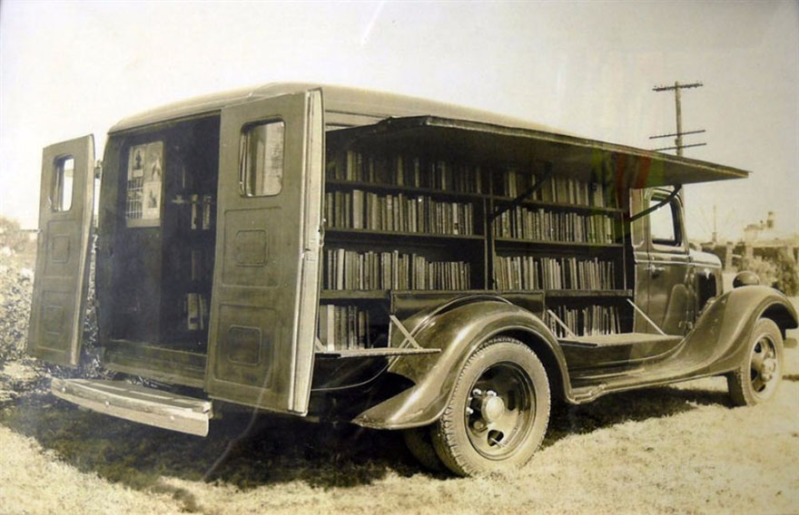 An Opened Bookmobile, 1925