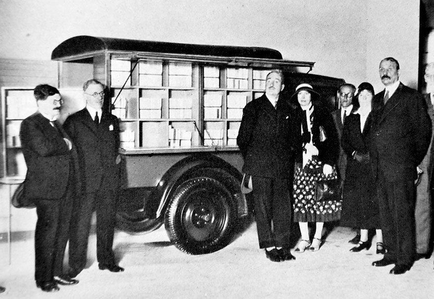 Presentation Of The New Bookmobile At The Paris Colonial Exposition Held In Paris France, 1931