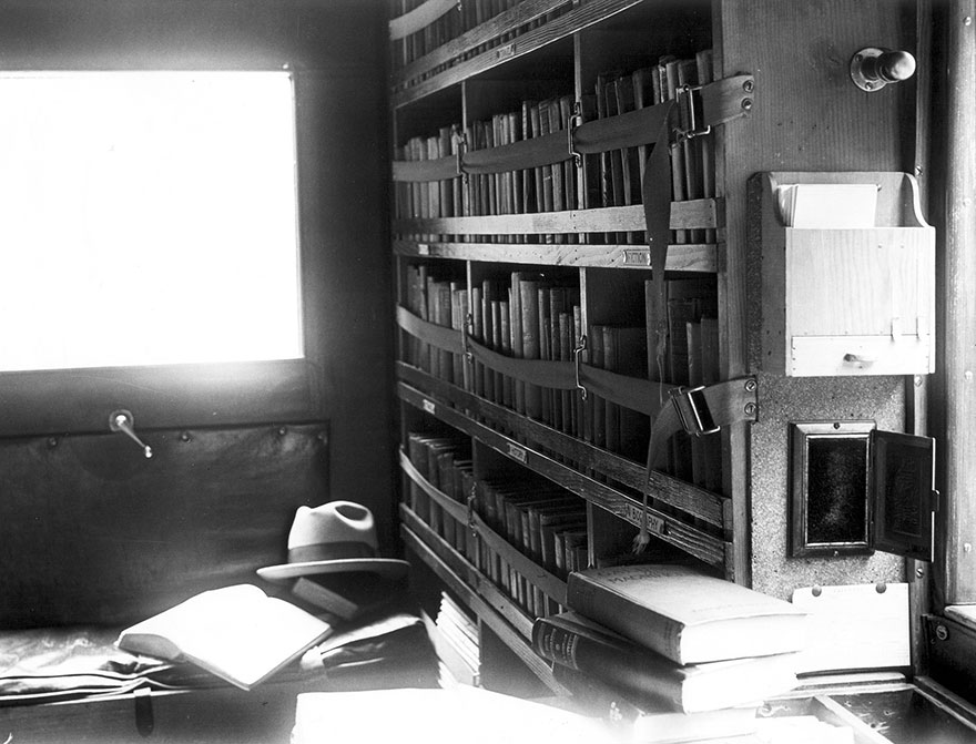 Bookmobile Interior, May 1927