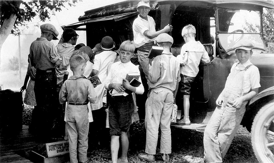 Summer Book Wagon, 1928