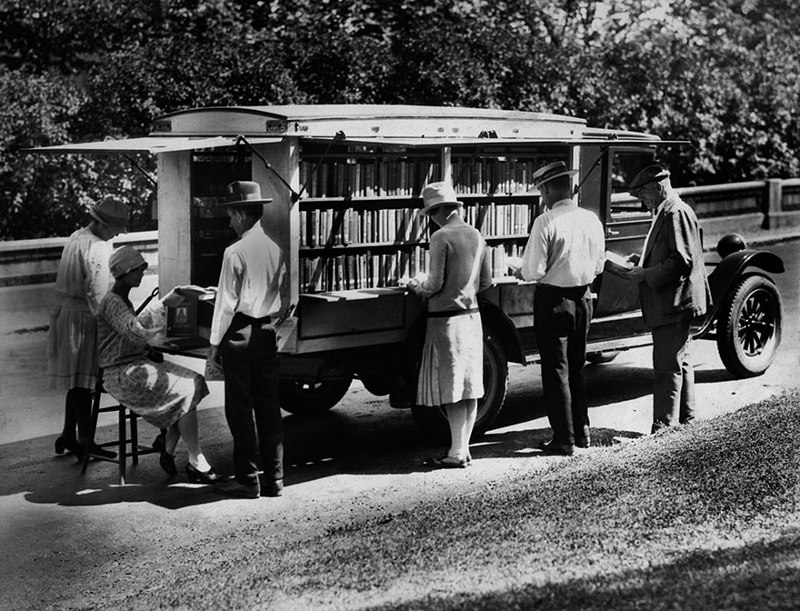 The Library's First Bookmobile, C. 1927