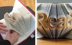 Artist Folds Books Into Sculptures