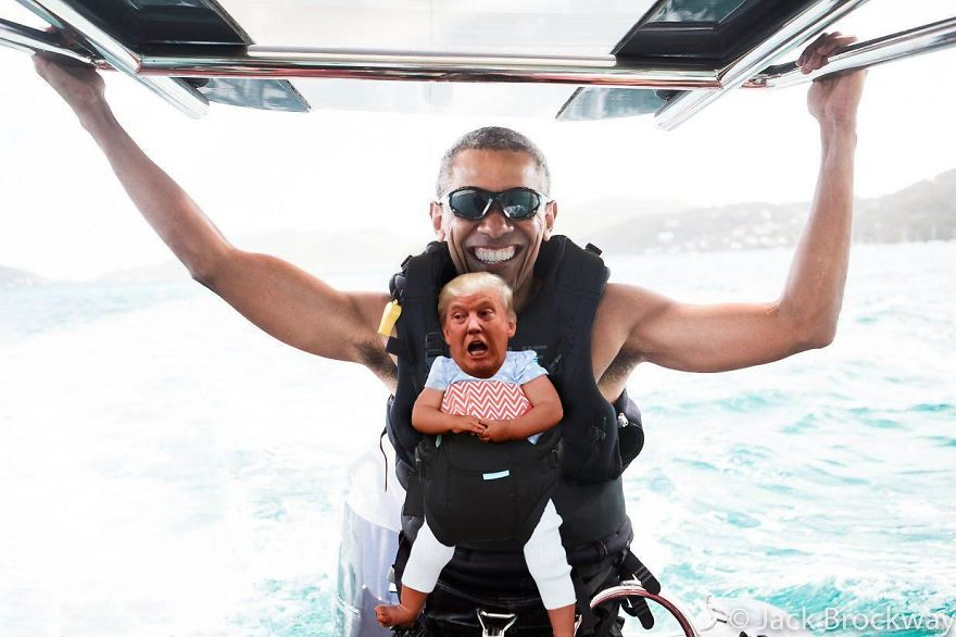 Trump & Barry On Vacation