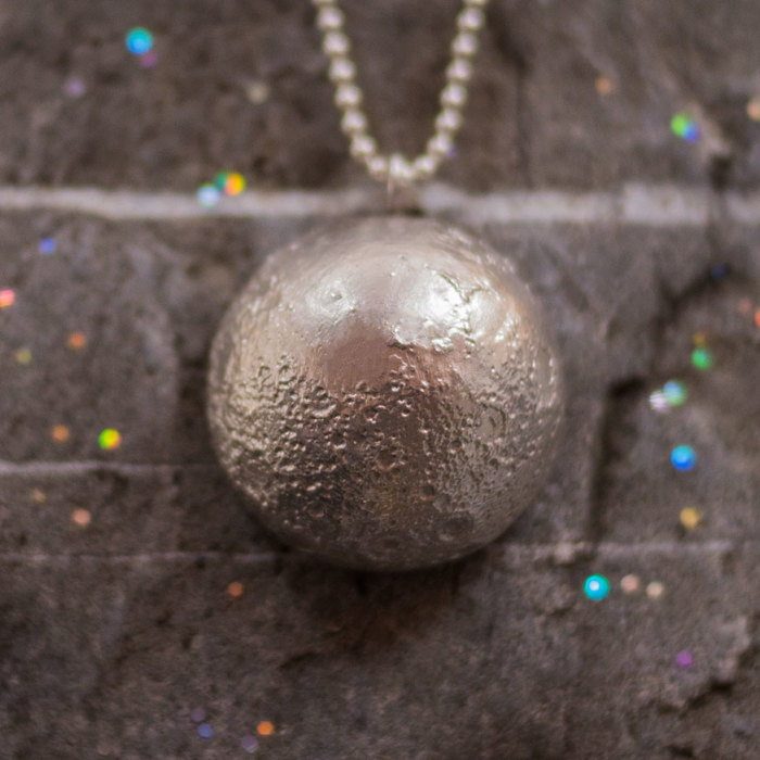 Using Nasa's Topographically Accurate Moon Maps, My Friend Created This Jewelry
