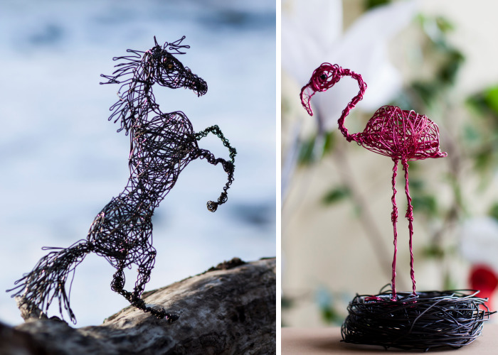 I Create Animal Sculptures Using Wire To Spread Awareness About Our Endangered Nature