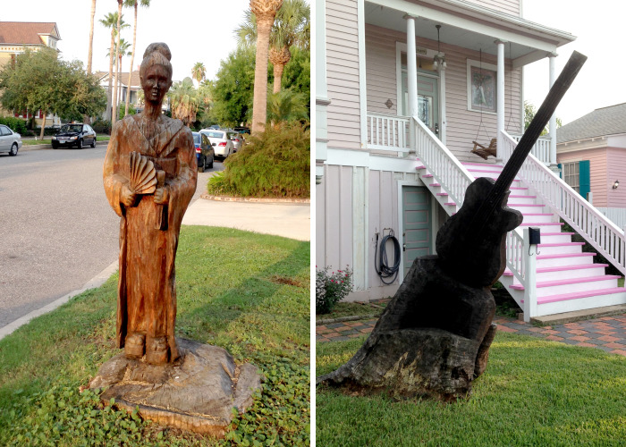 After Hurricane Ike Wrecked Galveston Island In 2008, Local Artists Turned Tree Stumps Into Beautiful Sculptures