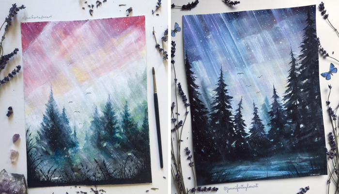 I Love To Paint Magical Forest Scapes That Exist In My Imagination
