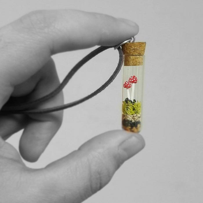 I Made These Cute Mini Mushroom Pendants