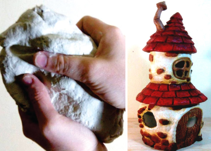 Fairy House With Attic Using Two Jars