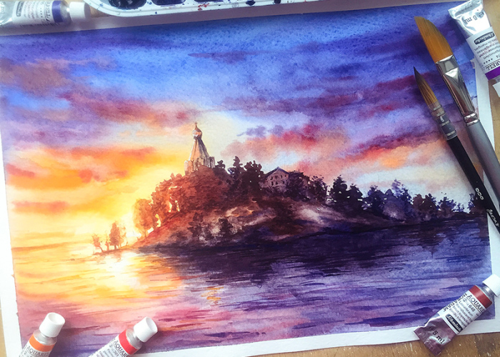 I Paint Architectural Landscapes Of Russian Cities Using Watercolours