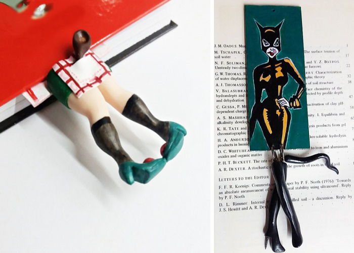 I Create Funny Handmade Bookmarks From Polymer Clay