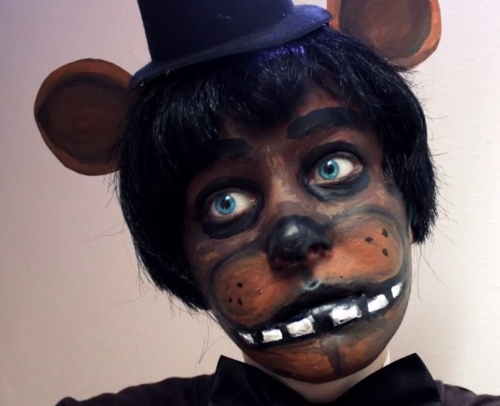 Freddy Fnaf- Makeup Tutorial Created With Craft Acrylic