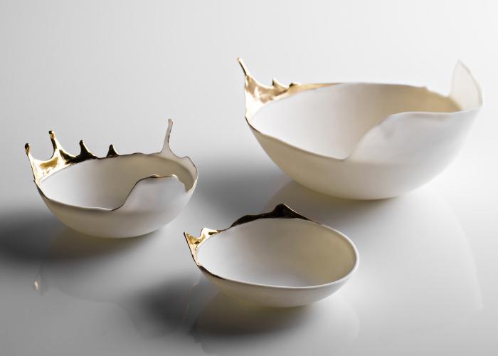 We Create Porcelain Bowls That Look Fluid