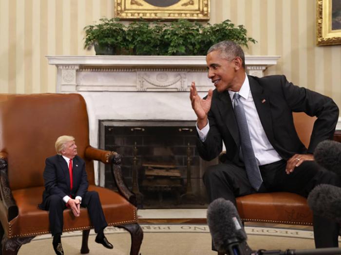 Crean imágenes de Trump como si fuera diminuto, y seguramente al presidente no le gustarán nada