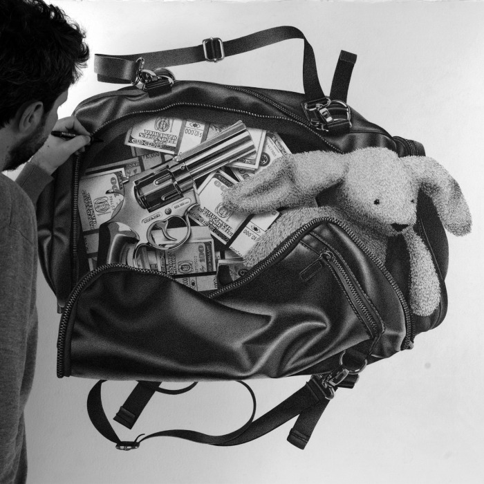 """The Making Of """"Money Bag"""" Pen Drawing"""
