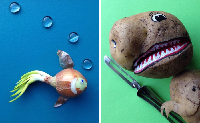 I Turn Fruits And Vegetables Into Art
