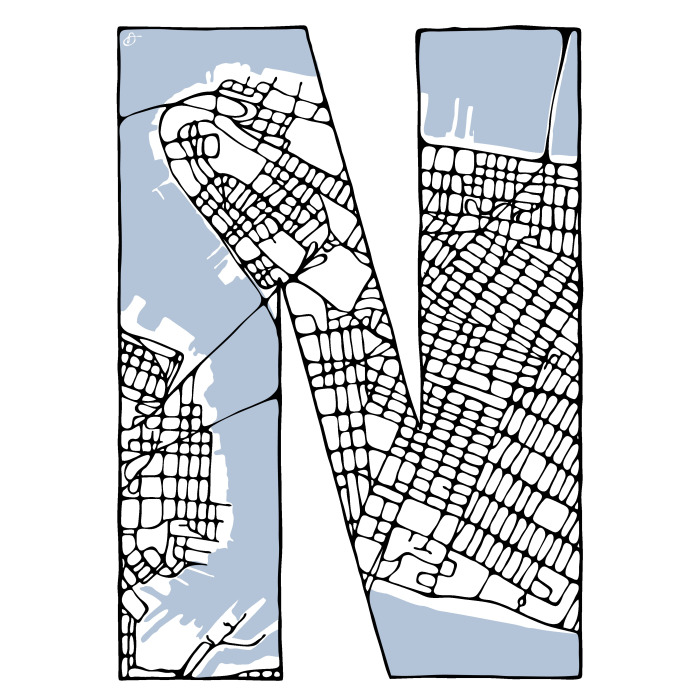 I Created A Typeface From Maps I Hand Drew Of 26 Cities Of The World
