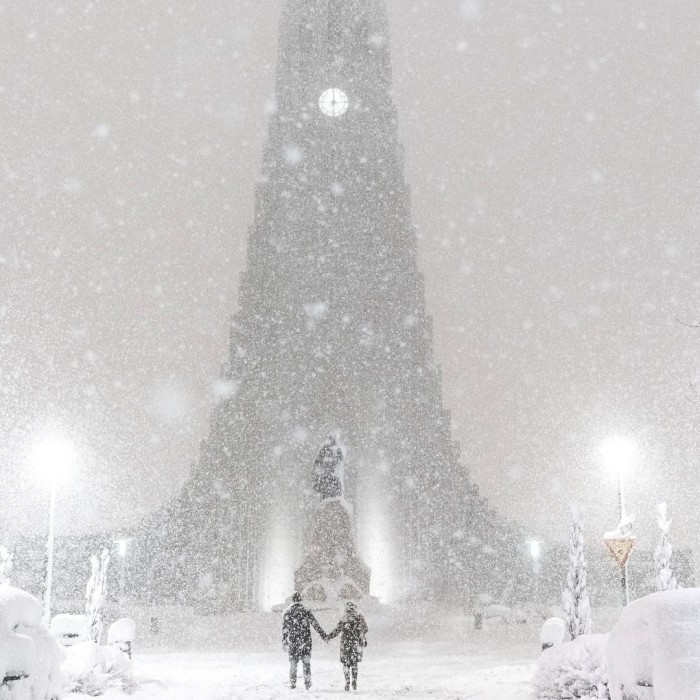 Today In Iceland, We Woke With The Highest Amount Of Snow Ever Recorded In February