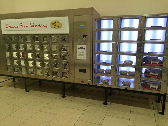 Local Farmer Has A Vending Machine In A Mall