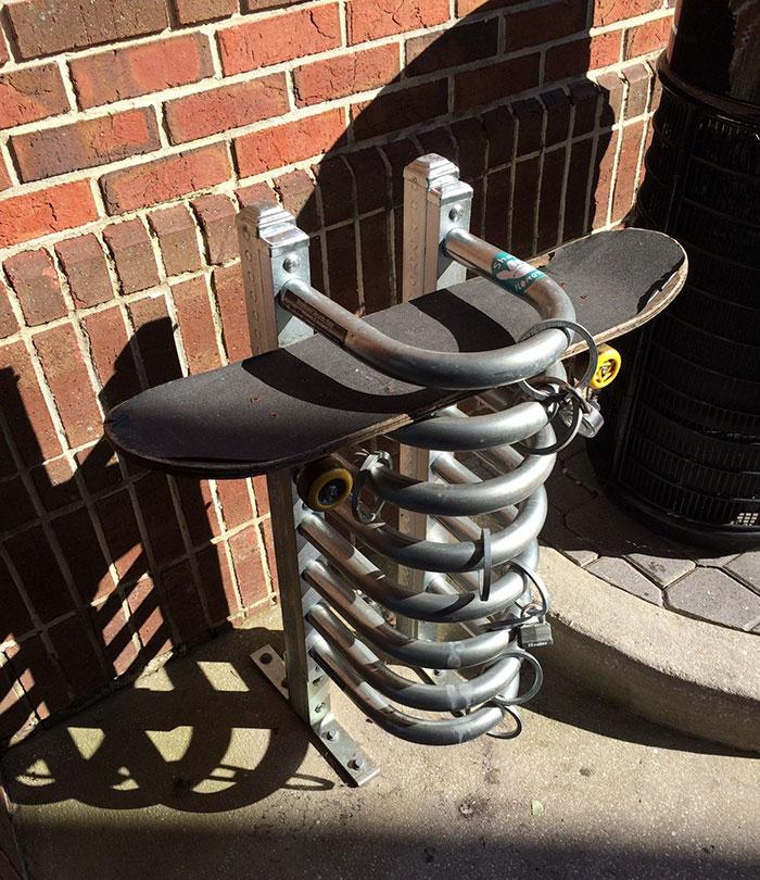 This School Has Skateboard Parking