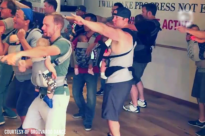 New Daddies Dance To Bond With Their Babies