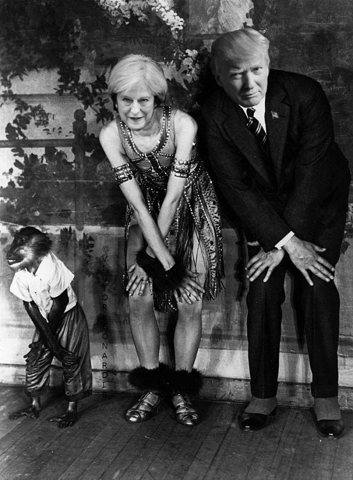 Theresa May & Donald Trump