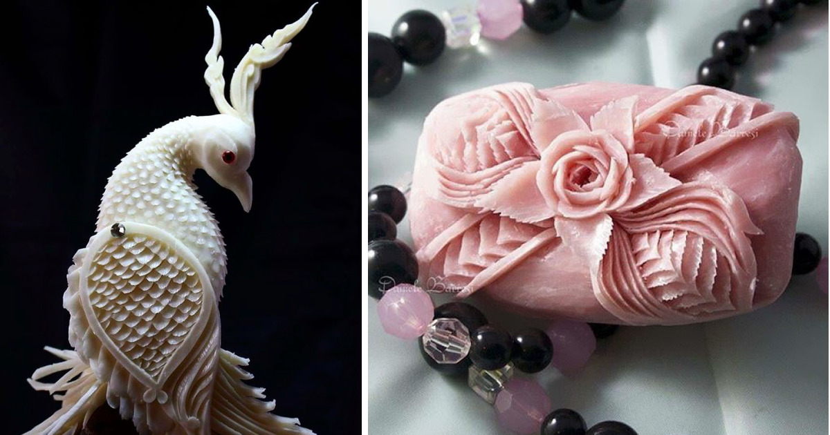 I Create Intricate Pieces Of Carved Art From Soap