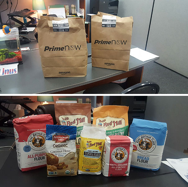 The Boyfriend Got In Trouble Yesterday. He Sent Flours To My Office Today To Apologize