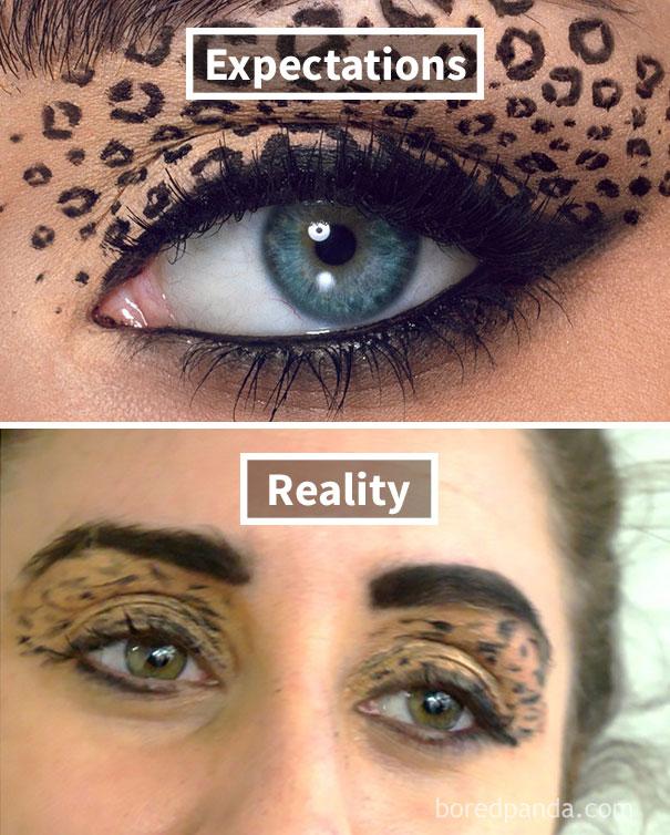 Leopard Eyeshadow Fail