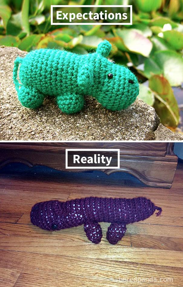 Crochet Hippo Fail