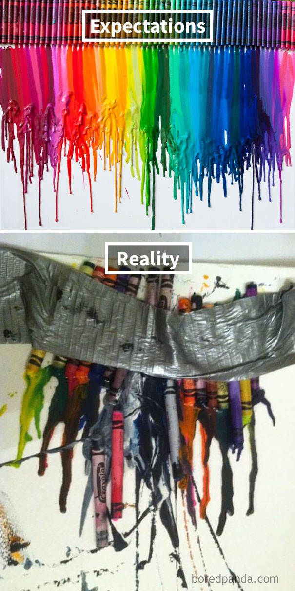 Melted Crayon Art Attempt