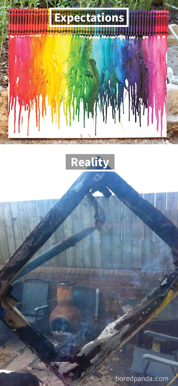Melted-Crayon Burning Rainbow