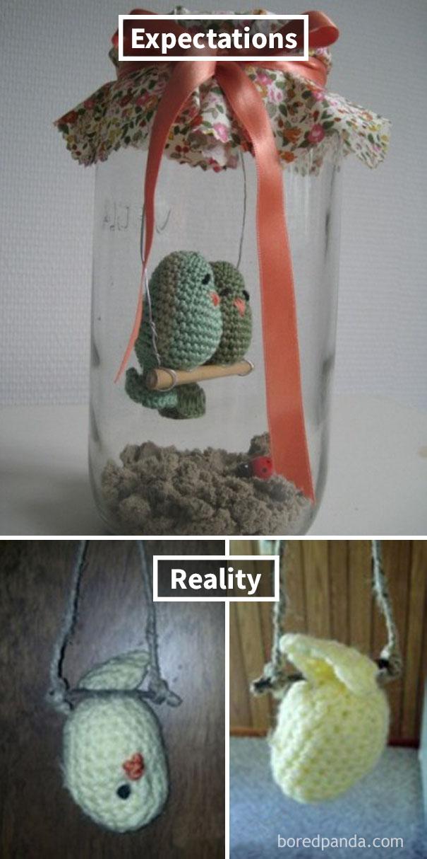 Dead Crocheted Birdie