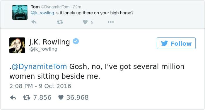 J. K. Rowling Twitter Comebacks