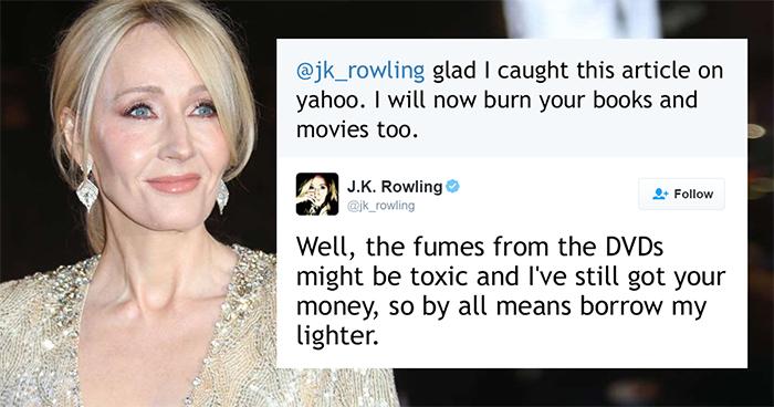 69 Times J. K. Rowling Brutally Destroyed Internet Trolls