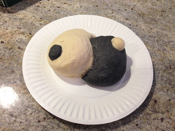 Intent: Yin Yang Bread. Result: Boob Job Gone Wrong