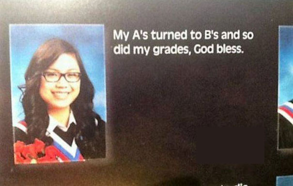 My A's Turned To B's And So Did My Grades, God Bless