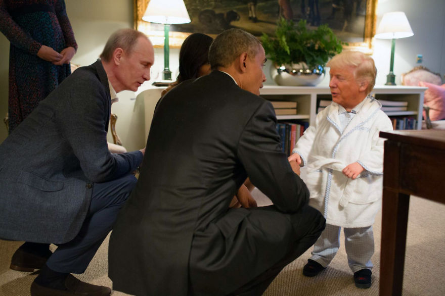 What A Strong Handshake You Have Little Fellow!